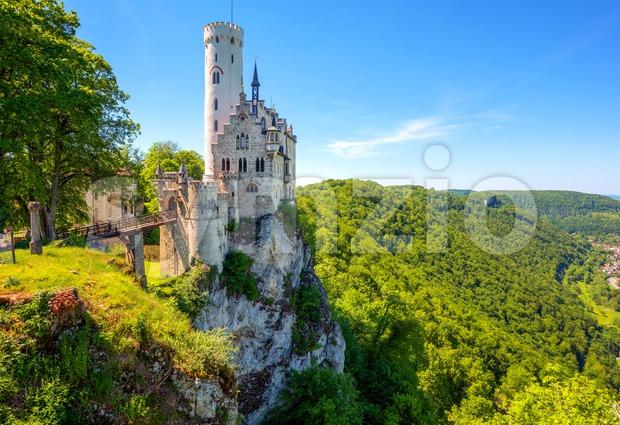Lichtenstein castle in Black Forest, Germany Stock Photo