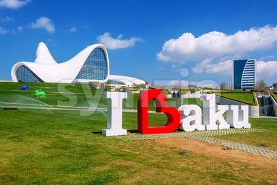 Heydar Aliyev Centre, Baku, Azerbaijan Stock Photo