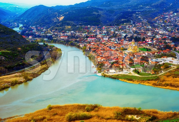 Mtskheta, located on two rivers Mtkvari and Aragvi in Caucasus mountains north of Tbilisi, is one of the oldest cities ...