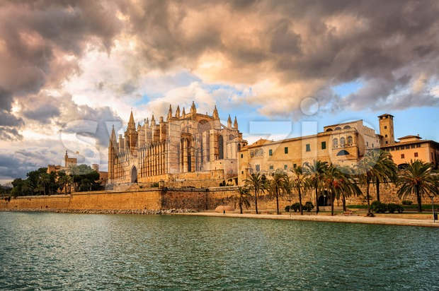 Cathedral of Palma de Mallorca, Spain Stock Photo