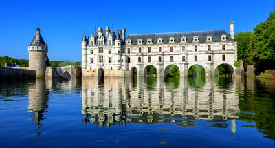 Chenonceau castle in Loir valley, France Stock Photo