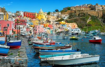 Marina di Corricella, Procida island, Naples, Italy Stock Photo