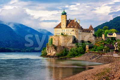 Schonbuhel castle on Danube river, Wachau region, Austria Stock Photo