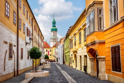 Sopron historical Old town, Hungary Stock Photo