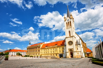 Our Lady of Hungary church in Keszthely Old town, Hungary Stock Photo