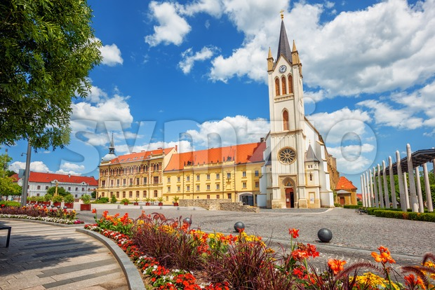 Keszthely historical Old town, Hungary Stock Photo