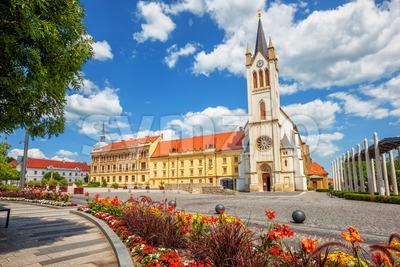 Keszthely historical Old town, Hungary Stock Photo