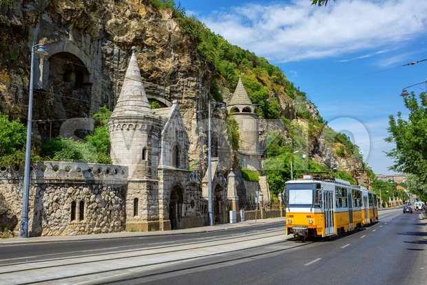 Gellert Hill Cave, Budapest city, Hungary Stock Photo