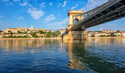 Budapest city on Danube river, Hungary Stock Photo