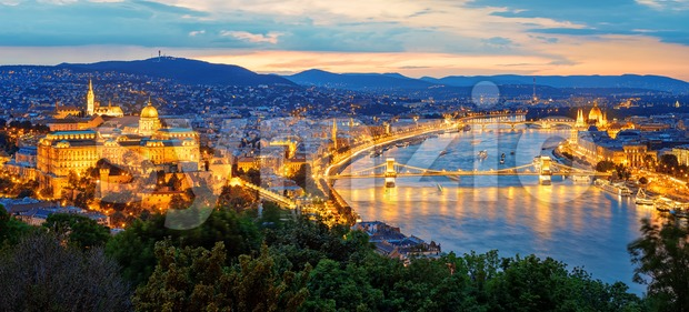 Budapest city and Danube river, Hungary Stock Photo
