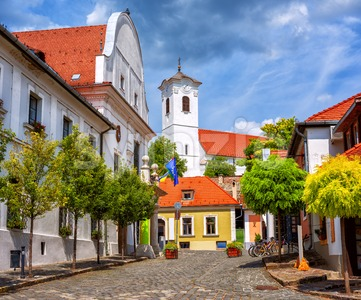 Szentendre medieval Old town, Hungary Stock Photo