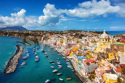 Procida island in Mediterranean sea, Naples, Italy Stock Photo