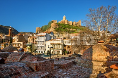Tbilisi historical Old town, Georgia Stock Photo