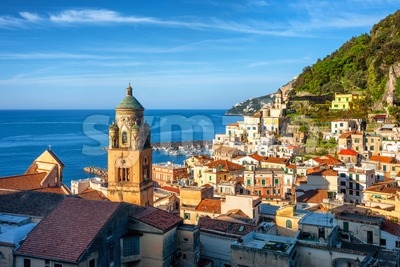 Amalfi Old town on Amalfi coast, Sorrentine peninsula, Italy Stock Photo