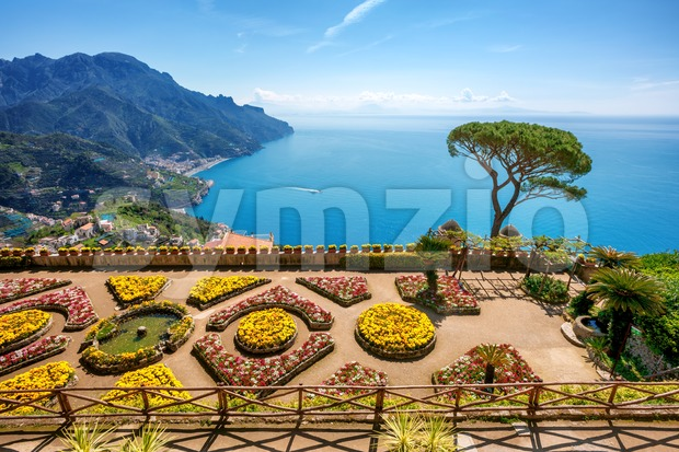 Ravello village on Amalfi coast, Italy Stock Photo