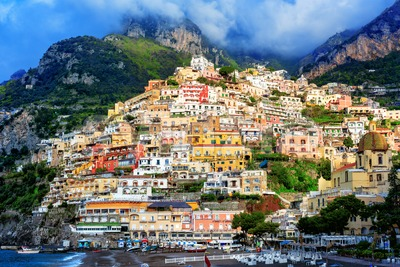 Positano village, Amalfi coast, Italy Stock Photo