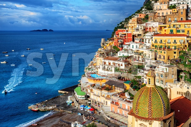 Positano old town, Amalfi coast, Italy Stock Photo