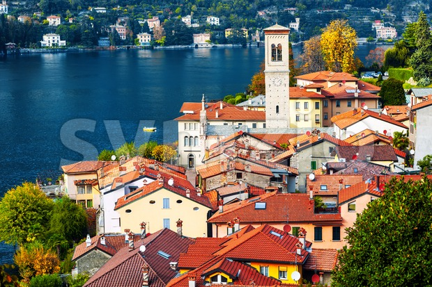 Torno village on Lake Como, Lombardy, Italy Stock Photo