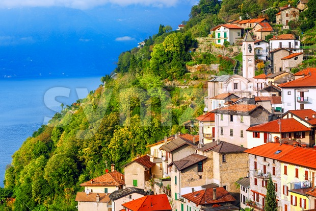 Careno town on Lake Como, Lombardy, Italy Stock Photo