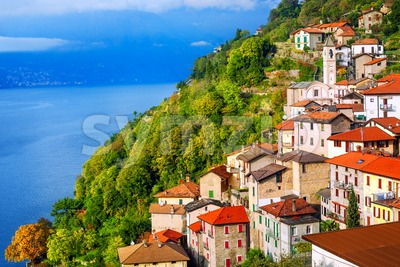 Careno village on Lake Como, Lombardy, Italy Stock Photo
