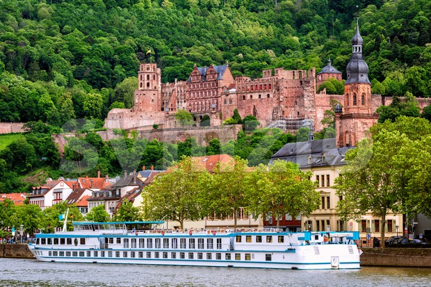 Heidelberg city on Neckar river, Germany Stock Photo
