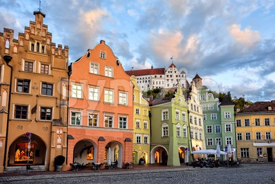 Landshut, medieval Old town in Bavaria, Germany Stock Photo