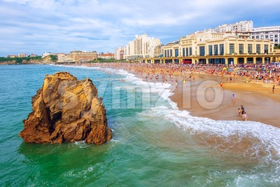 Biarritz city, Basque Country, France Stock Photo