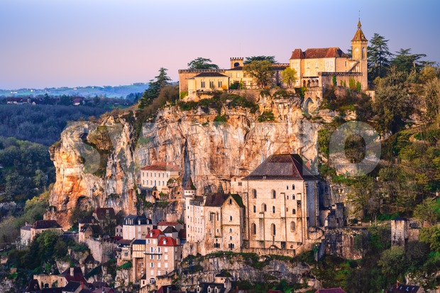 Rocamadour historical old town, France Stock Photo