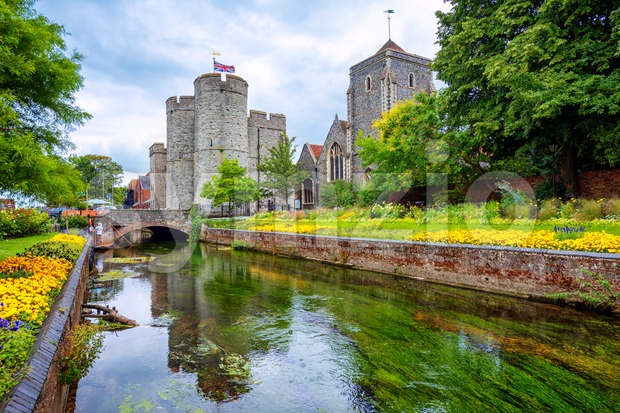 Westgate towers and Guildhall in Canterbury, England, UK Stock Photo