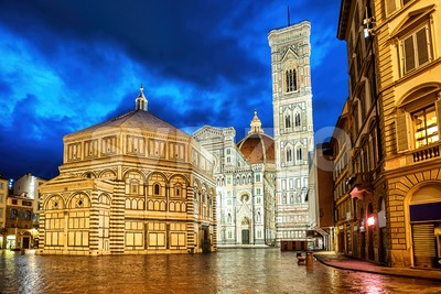 Santa Maria del Fiore cathedral in Florence, Italy Stock Photo