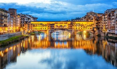 Ponte Vecchio bridge in Florence, Italy Stock Photo
