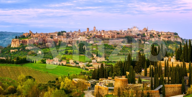 Ancient hilltop town Orvieto, Umbria, Italy Stock Photo