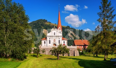 Marbach village in Entlebuch, Lucerne, Switzerland Stock Photo