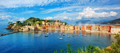 Sestri Levante, Italy, a popular resort town in Liguria Stock Photo