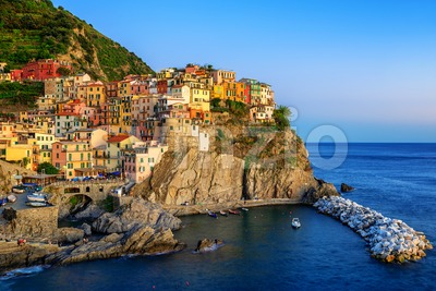 Manarola, Italy, a picturesque village in Cinque Terre Stock Photo