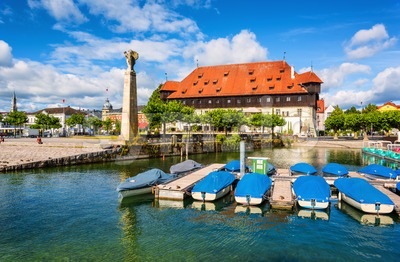 Konstanz, Germany, a port town on Lake Constance Stock Photo