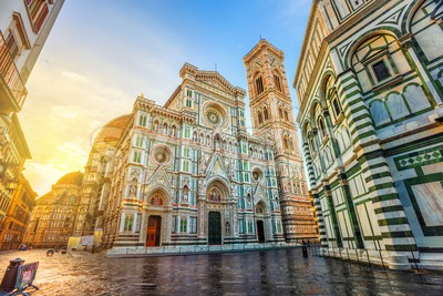 Cathedral of Florence in Piazza del Duomo, Florence, Italy Stock Photo