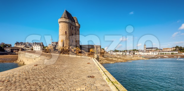 Solidor tower in St Malo, Brittany, France Stock Photo