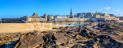 St Malo walled city, Brittany, France Stock Photo