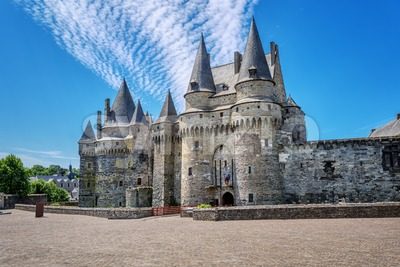 Chateau de Vitre castle in Brittany, France Stock Photo