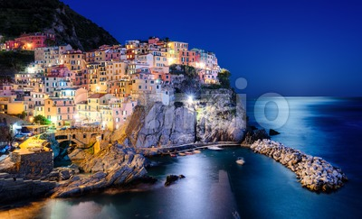 Manarola town in Cinque Terre, Italy Stock Photo