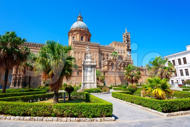 Palermo Cathedral in Palermo city, Sicily, Italy Stock Photo