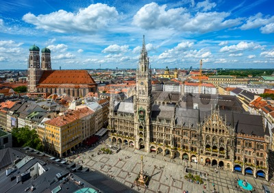 Marienplatz square in Munich city, Germany Stock Photo