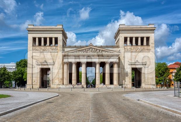 Propylaea building in Konigsplatz square, Munich, Germany Stock Photo