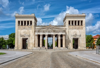 Propylaea building in Konigsplatz square, Munich, Germany Stock Photo
