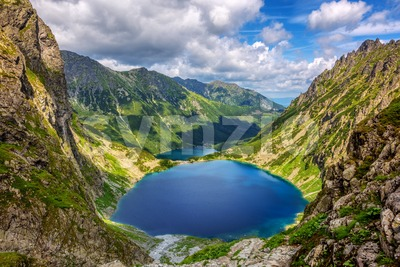 Morskie Oko lake in the Tatra Mountains, Poland Stock Photo