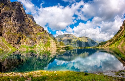 Black lake in polish Tatry mountains, Poland Stock Photo