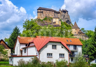 Orava castle in Oravsky Podzamok, Slovakia Stock Photo