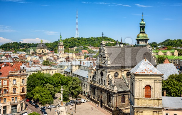Lviv historical ctiy center, Ukraine Stock Photo