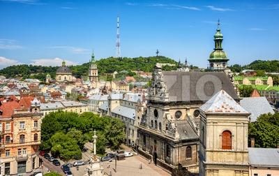 Lviv historical ctiy center, Ukraine Stock Photo